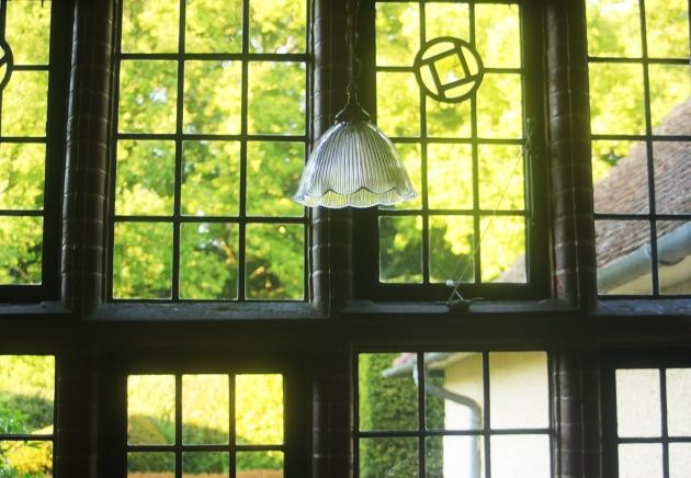 glass window Lutyens House Edwin Lutyens Abinger Common Surrey Stately Homes interior wooden door