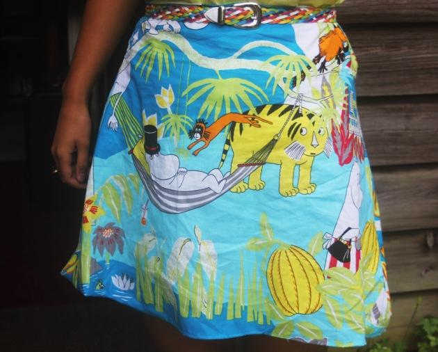 Handmade Moomin skirt