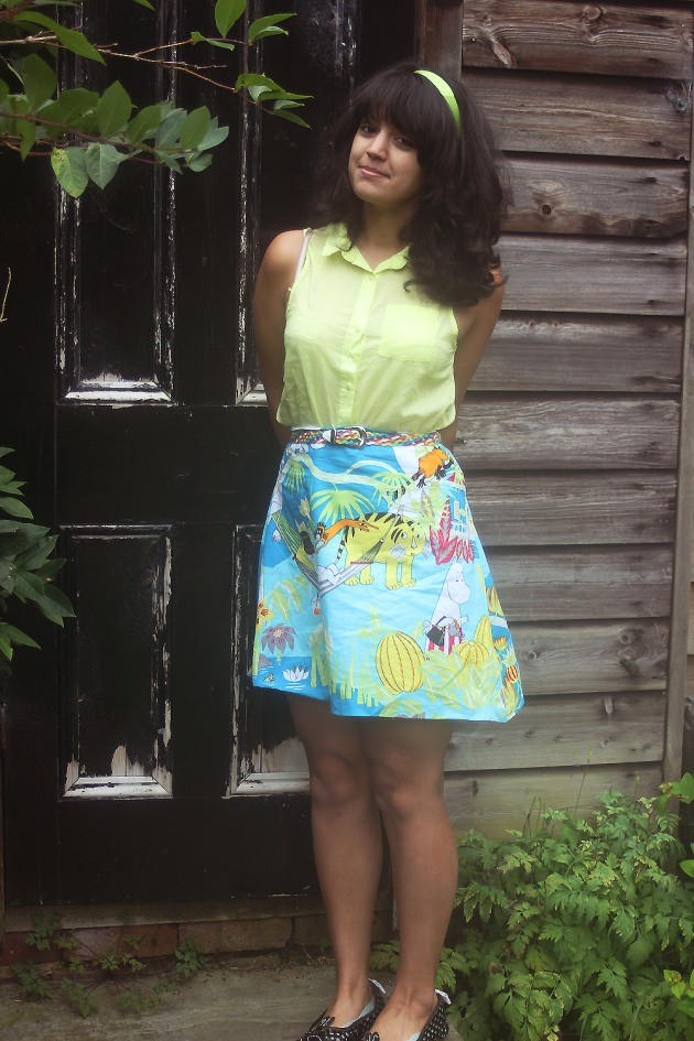 Moomin skirt sixties outfit