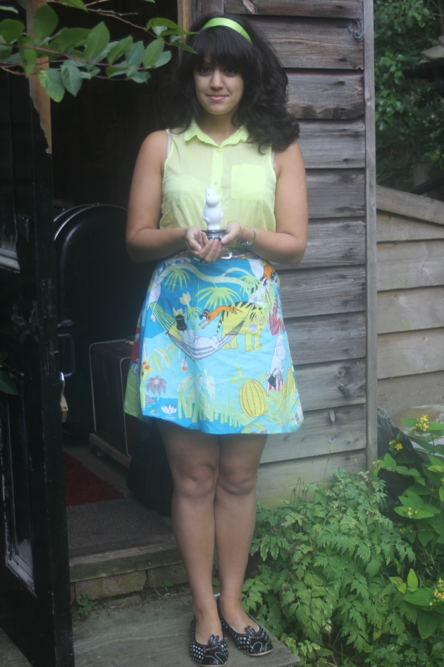 Handmade Moomin safari skirt