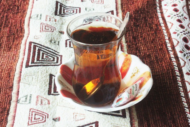 Turkey Turkiye Fetiye hot apple tea turkish tea