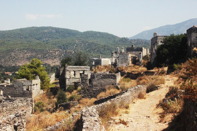 Turkey turkiye fetiye KayaKoy abandoned abandon city deserted city town ghost eerie outdoor exterior