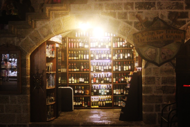 rhodes old town greece castle display shop wine cellar knights medieval