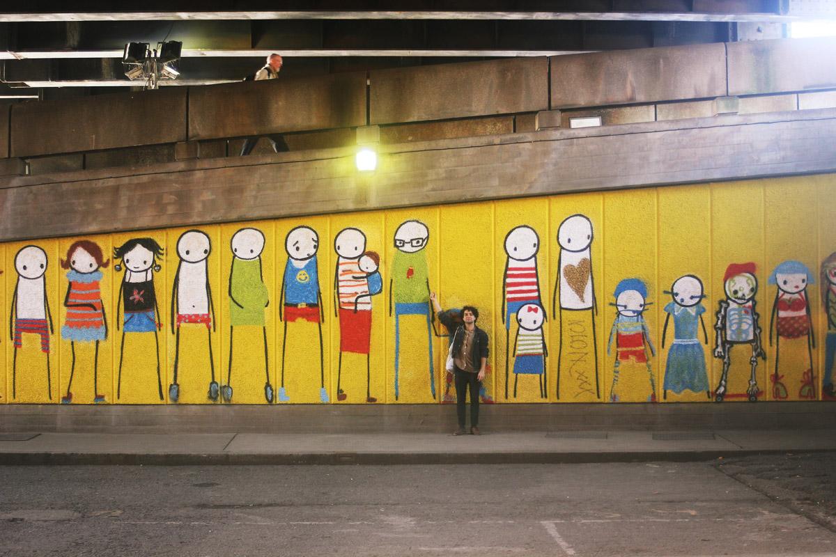 Danilo children line painted south bank