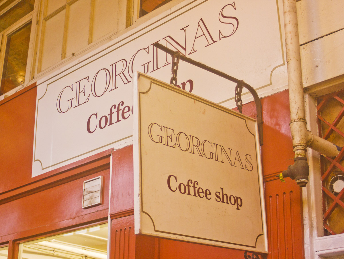 oxford covered market interior arches roof georginas cafe sign decorative
