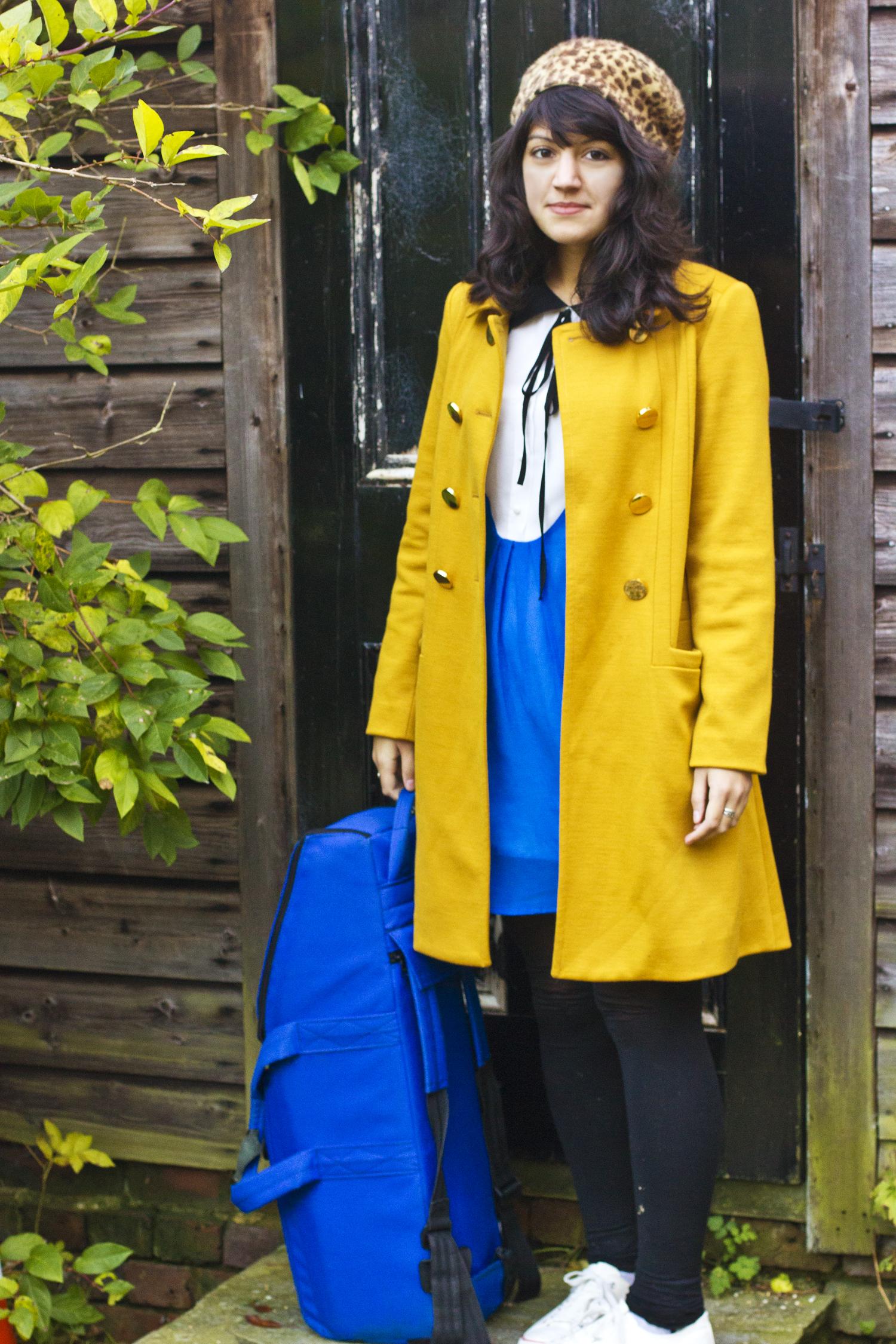 bassoon dress matching mustard coat