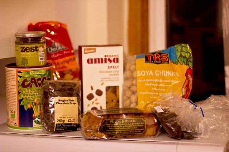 vegan food shopping ingredients food haul